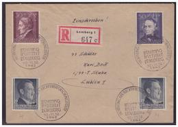 GG (005287) WKII Beleg Mit Sonderstempel 27, Behring Institut Lemberg, 10.-11.12.1942 - Occupation 1938-45