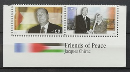2004 PALESTINE MNH Friends Of Peace JACQUES CHIRAC - Palestine