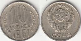 Russia 10 Kopeks 1961 KM#130 - Used - Russia