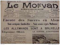 WW1 Les Premiers Jours De La Guerre 21  Août 1914 LES ALLEMANDS SONT À BRUXELLES  / GUEBWILLER / MULHOUSE - Documents Historiques