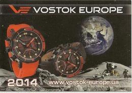 Calendar Russia - 2014 - Clock - Earth - Moon - Moonwalker - Space - Advertising - Calendars