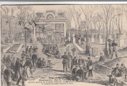 Cp , HISTOIRE , Siège De Paris , Montmartre , Bal Du Château - Historia