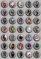 Johnny Hallyday Music Fan ART BADGE BUTTON PIN SET 15 (1inch/25mm Diameter) 35 DIFF - Music