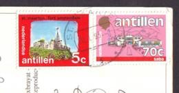 Fort Amsterdam + Buildings 2 Stamps  '90 Kenya  On Postcard - Antille