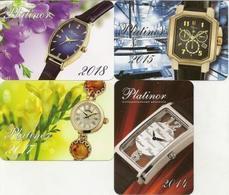 Calendar Russia - 2014 - 18 - 4 Pcs. - Clock - Platinum - Advertising - Beautiful - Calendars