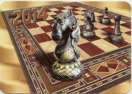 Calendar Russia - 2014 - Chess - Metal - Advertising - Calendars
