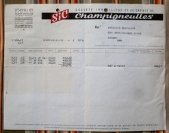 54  CHAMPIGNEULLES  SIC Brasseries - Factures