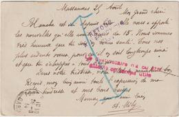 """CPFM Août 1914 Massanes Gard  """"le Destinataire N'a Pu être Joint En Temps Utile"""" Et RAE - Oorlog 1914-18"""