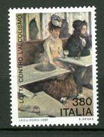 ITALIA - 1987 - NUOVO MNH - WINE - VINO - ALCOOL - Absinthe, Dipinto Di Degas - Vini E Alcolici