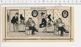 Presse 1904 Humour Métier Concierge Cordon Queue Chat Noir Cage Oiseau 223N - Old Paper