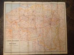 CarteGeo. 3. Ancienne Carte Routière De La Belgique - Roadmaps