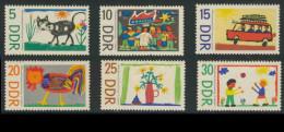 DDR Germany 1967 Mi 1280 /5 ** Children Drawings -Int.l Children's Day / Kinderzeichnungen / Dessins D'enfants - Ongebruikt