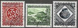 Liechtenstein 1953: Prähistorische Funde Zu 263-265 Mi 319-321 Yv 281-283 Mit Eck-o (Zumstein CHF 80.00) - Archaeology