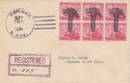 USA Fancy 20th Registered Recommandée Hammer Marteau .. Hammer Dakota 02 05 1934 .. - United States