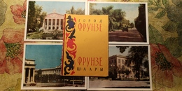 KYRGYZSTAN. Bishkek Capital (Frunze) 10 Postcards Lot  USSR PC 1964 - Kirghizistan