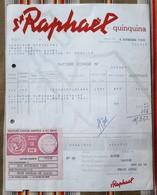 75 PARIS  Saint Raphael Quinquina  Conge - Factures