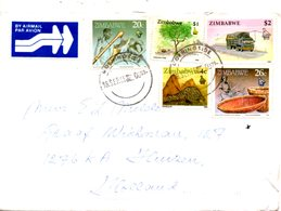 ZIMBABWE. Belle Enveloppe Ayant Circulé En 1995. - Zimbabwe (1980-...)