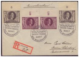 Dt- Reich (005315) WKII Einschreiben  Deutsche Dienstpost Niederlande Mit Sonderstempel Amsterdam 20.4.1943 - Besetzungen 1938-45