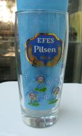 AC - EFES PILSEN BEER GLASS FOOTBALL STADIUM ILLUSTRATED - Bière