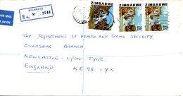 ZIMBABWE. N°49 Sur Enveloppe Ayant Circulé En 1983. Chutes Bundi. - Zimbabwe (1980-...)