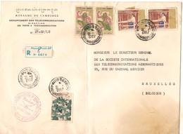 1967 Enveloppe Du Département Des Télécommunications - Cambodia