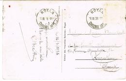 O.MEC KRAG ROYAN BD SEULS TIMBRE DECOLLE SUR CPA - Poststempel (Briefe)