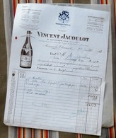 71 ROMANECHE THORINS Bourgogne VINCENT JACOULOT - Factures