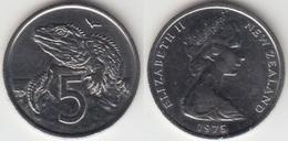 Nuova Zelanda 5 Cents 1975 Km#34.1 - Used - Nouvelle-Zélande
