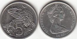 Nuova Zelanda 5 Cents 1982 Km#34.1 - Used - New Zealand