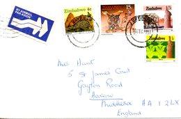 ZIMBABWE. Belles Enveloppes Ayant Circulé En 1991. - Zimbabwe (1980-...)
