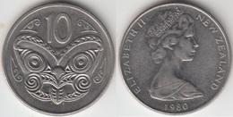 Nuova Zelanda 10 Cents 1980 Km#41.1 - Used - New Zealand