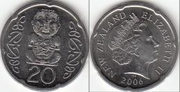 Nuova Zelanda 20 Cents 2006 Km#118a - Used - New Zealand