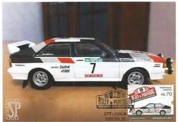 Postal Máximo Rally Portugal Automóvel Voiture Car Auto Audi Quattro S1 автомобиль Maximum Maxicard Maximo - Automovilismo