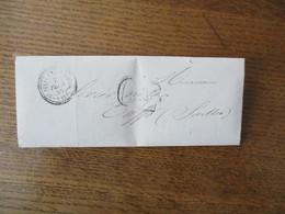 ST JULIEN-LE-FAUCON 7 FEVR. 56  30 CHERBOURG A PARIS 7 FEVR. 56 C SUR LETTRE Me DARPENTIGNY NOTAIRE DU 7 FEVRIER 1856 - Marcophilie (Lettres)