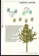 2011, DOCUMENT OFFICIEL DE LA POSTE: Lettre Verte - Documenti Della Posta