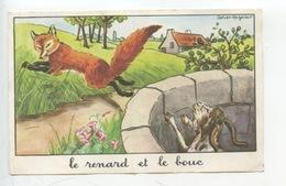 Jean De La Fontaine - Calvet-Rogniat : Le Renard Et Le Bouc (éd éducatives Série D 14X9) - Fairy Tales, Popular Stories & Legends