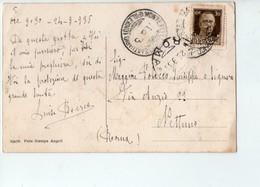 U3554 Annullo Storia Postale 1935 SANTUARIO MONTEPELLEGRINO (palermo) Su Cartolina SANTUARIO DI S. ROSALIA - 1900-44 Vittorio Emanuele III