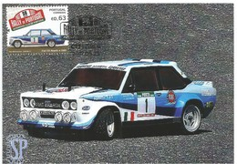 Postal Máximo Rally Portugal Automóvel Voiture Car Auto Fiat 131 Abarth автомобиль Maximum Maxicard Maximo - Cars