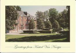 Greetings From Kasteel Van Neerijse (Hôtel-Restaurant)  (scan Verso) - Huldenberg