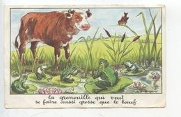 Jean De La Fontaine - Calvet-Rogniat : La Grenouille... Aussi Grosse Que Le Boeuf (éd éducatives Série D 14X9) - Fairy Tales, Popular Stories & Legends