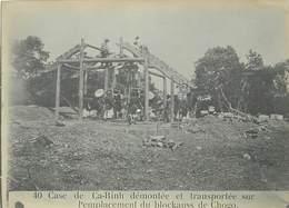 TONKIN /VIET-NAM - 40- Case De Ca-Rinh Démontée Et Transportée .....(photo Ancienne Format 16,8cm X 11,8cm). - Lieux