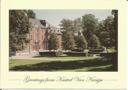 Greetings From Kasteel Van Neerijse (Hôtel-Restaurant)  (scan Verso) - Hotels & Restaurants