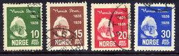 NORWAY 1928 Ibsen Centenary Used.  Michel 137-40 - Norway