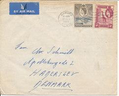 Uganda Kenya Tanganyika Cover Sent To Denmark 21-11-1955 - Kenya, Uganda & Tanganyika