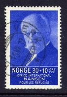 NORWAY 1935 Nansen Refugee Fund 30+10 Øre, Used.  Michel 175 - Norway