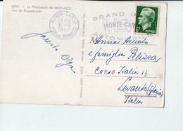 U3556 NICE TIMBRE GRAN PRIX MONTE CARLO (FORMULA UNO) Postcard 1952 MONACO, Vue De Raquebrune _ Ed LOEL - Monte-Carlo