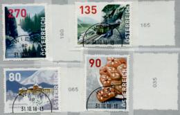 Austria 2018 Dispenser-Marken, 4 Werte Ersttagstempel,mit Zählernummer 4. Auflage - 1945-.... 2. Republik