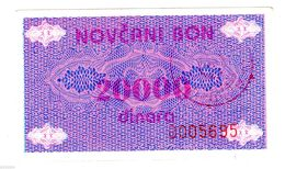 Bosnie BOSNIA NOTGELD 20000 DINARA ND ( 1992 ) NOVCANI BON ISSUE P52A BON ETAT - Billets