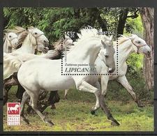 CROATIA 2018,FAUNA HORSES,LIPICANER,BLOCK,, MNH - Croazia