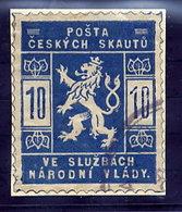 CZECHOSLOVKIA 1918 Scout Post 10 H. Used On Piece.  Michel Ia - Czechoslovakia
